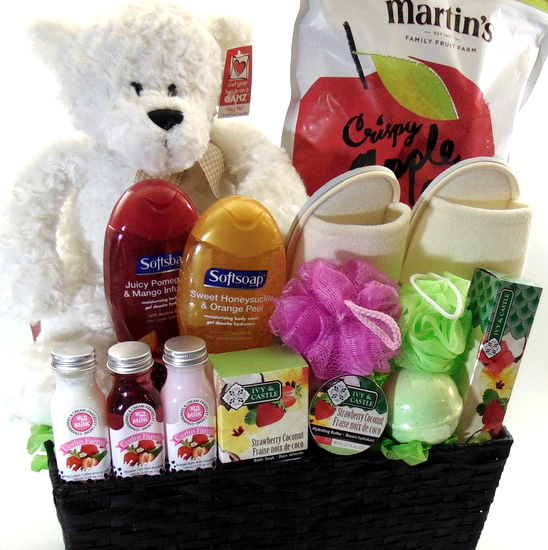 Strawberry Spa Gift Basket