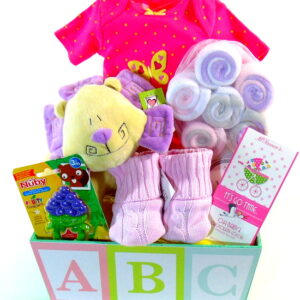 ABC Baby Girl Basket
