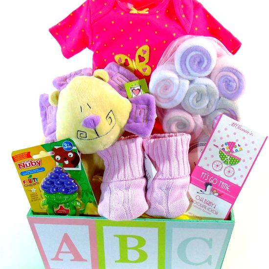 ABC Baby Girl Basket
